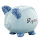 Personalized Hand Painted Children's Piggy Bank, One Size, Blue