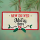 Personalized New Driver Ornament