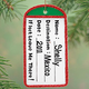 Personalized Luggage Tag Ornament