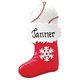 Personalized Sports Stocking Ornament, One Size, White