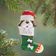 Personalized Puppy In Stocking Ornament