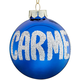 Personalized Name Or Date Glitter Ornament, Blue