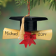 Personalized Graduation Cap with Scroll Ornament