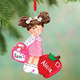 Personalized First Day Of School Ornament - Girl