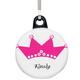 Personalized Princess Zipper Pull