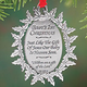 Personalized Baby's First Christmas Pewter Ornament