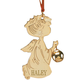 Personalized Kneeling Angel and Bell Ornament