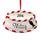 Personalized Cat Bowl Ornament, One Size
