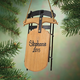 Personalized Wooden Sled Ornament, One Size