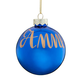 Personalized Name OR Date Painted Ornament, One Size, Blue