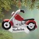 Personalized Motorcycle Ornament, One Size