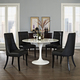 Noblesse Vinyl Dining Chair Set of 4 in Black