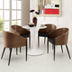 Cooper Dining Chairs Set of 4 in Walnut