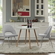 Cordelia Dining Chairs Set of 2 in Light Gray