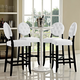 Button Bar Stool Set of 4 in White