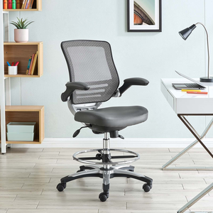 edge drafting chair in black - lexmod