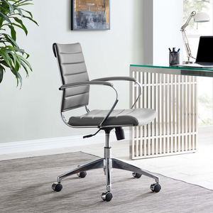 about jive mid back office chair in gray modern desk chair