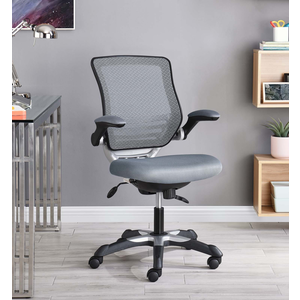 about edge mesh office chair in gray modern desk chair