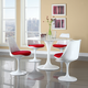 Lippa 5 Piece Fiberglass Dining Set in Red