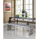 Gridiron Benches Set of 3 in Silver