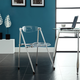 Telescope Dining Chairs  Set of 2 in Clear
