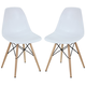 Pyramid Dining Side Chairs Set of 2 in White