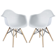 Pyramid Dining Armchair Set of 2 in White