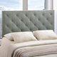 Theodore Queen Fabric Upholstered Headboard in Gray