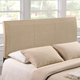 Isabella Queen Upholstered Headboard in Beige