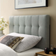 Lily Twin Fabric Upholstered Headboard in Gray