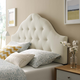 Sovereign King Fabric Upholstered Headboard in Ivory