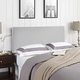 Region Full Upholstered Fabric Headboard in Sky Gray