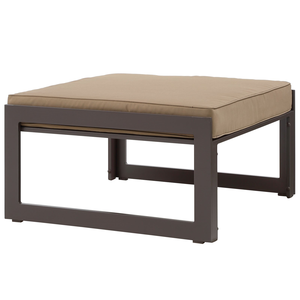 About: Fortuna Outdoor Patio Ottoman In Brown Mocha