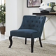 Royal Upholstered Fabric Armchair in Azure