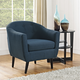 Wit Upholstered Fabric Armchair in Azure