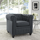 Earl Upholstered Fabric Armchair in Gray