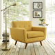 Engage Mid-Century Modern Upholstered Armchair in Citrus
