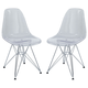 Paris Dining Side Chair Set of 2 in Clear