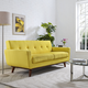 Engage Mid-Century Modern Upholstered Loveseat in Sunny