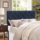 Theodore Twin Fabric Upholstered Headboard in Navy