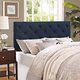 Theodore Full Fabric Upholstered Headboard in Navy