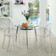 Casper Dining Chairs Set of 4 in Clear