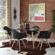Pyramid Dining Armchair Set of 4 in Black