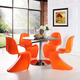 Slither Dining Side Chair Set of 4 in Orange