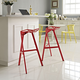 Launch Stacking Bar Stool Set of 2 in Red