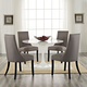 Reverie Dining Side Chair Set of 4 in Gray