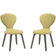 Tempest Dining Side Chair Set of 2 in Walnut Green
