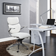 Escape Mid Back Office Chair in White - Modern Desk Chair
