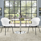 Swerve Dining Set Set of 2 in White