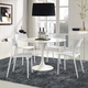 Hop Dining Set Set of 4 in White